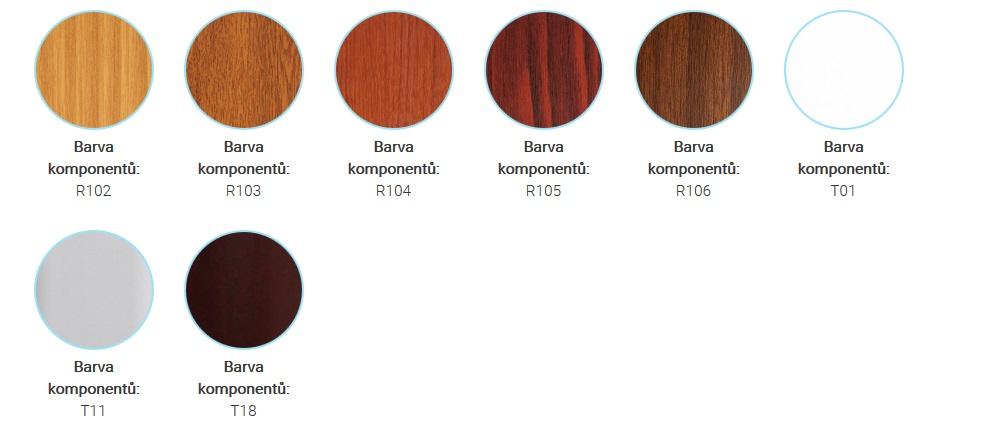 rolety komponenty barvy
